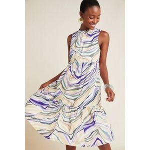 new Anthropologie Faustina Midi Dress